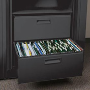 Rotary File Cabinet Components, Legal File/Storage Drawer, Black
