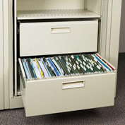 Rotary File Cabinet Components, Legal File/Storage Drawer, Locking, Bone White