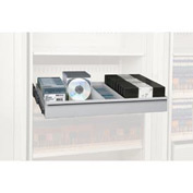 Rotary File Cabinet Components, Legal Multimedia Drawer, Light Gray