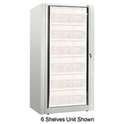 Rotary File Cabinet Components, Base Starter Unit, Legal, 2-High, Bone White