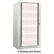 Rotary File Cabinet Components, Base Starter Unit, Legal, 4-High, Bone White
