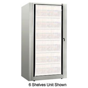 Rotary File Cabinet Components, Base Starter Unit, Legal, 4-High, Light Gray