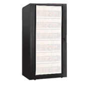 Rotary File Cabinet Components, Base Starter Unit, Legal, 6-High, Black