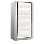 Rotary File Cabinet Components, Base Starter Unit, Legal, 6-High, Light Gray