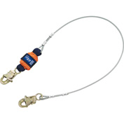 EZ-Stop™ 1246066 6' Leading Edge Cable Shock Absorbing Lanyard, Snap Hooks at Each End