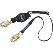 Force2™ 1246317 6' Adjustable Shock Absorbing Lanyard, Snap Hooks at Each End