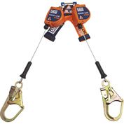 Nano-Lok™ 3500246 7.3' Twin-Leg Quick Connect Self Retracting Lifeline, Galvanized Cable