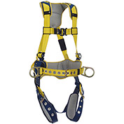 DBI-SALA® Delta™ Comfort Construction Positioning Harness, Tongue Buckle & Pass Thru, L