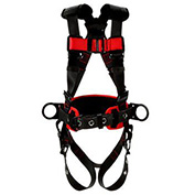 Protecta® PRO™ Construction Style Harness 1191208, Back & Side D-Rings, S