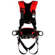 PRO™ Comfort Construction Style Positioning Harness, Tongue Buckle & Pass Thru, M/L