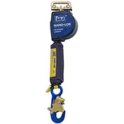 Nano-Lok™ Extended Length Self Retracting Lifeline, Snap Hook & Quick Connector, 11'