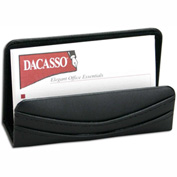 DACASSO® Classic Black Leather Business Card Holder