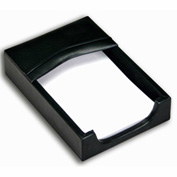 DACASSO® Classic Black Leather 4 x 6 Memo Holder