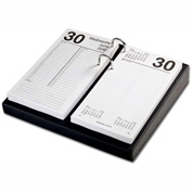 "DACASSO® Classic Black 4.5"" x 8"" Calendar Holder with Silver Accents"