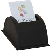 DACASSO® Classic Black Leather Vertical Business Card Holder