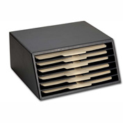 DACASSO® Classic Black Leather Vertical Letter Sorter