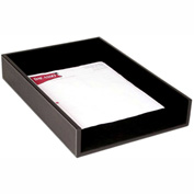DACASSO® Rustic Black Leather Front-Load Legal Tray