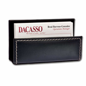 DACASSO® Rustic Black Leather Business Card Holder
