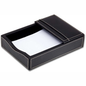 DACASSO® Rustic Black Leather 4 x 6 Memo Holder
