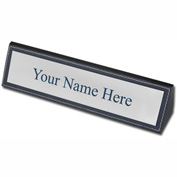 DACASSO® Rustic Black Leather Name Plate