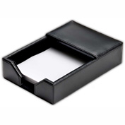 "DACASSO® Econo-Line Black Leather 4"" x 6"" Memo Holder"