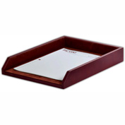 DACASSO® Mocha Leather Letter Tray