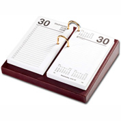 "DACASSO® Mocha Leather 3.5"" x 6"" Calendar Holder"