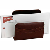 DACASSO® Mocha Leather Letter Holder
