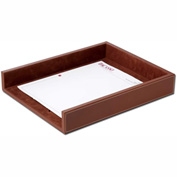 DACASSO® Rustic Brown Leather Legal-Size Letter Tray