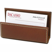 DACASSO® Rustic Brown Leather Business Card Holder