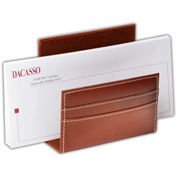 DACASSO® Rustic Brown Leather Letter Holder
