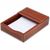 "DACASSO® Rustic Brown Leather 4"" x 6"" Memo Holder"
