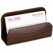 DACASSO® Chocolate Brown Leather Business Card Holder