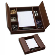 DACASSO® Chocolate Brown Enhanced Conference Room Organizer
