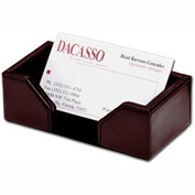 DACASSO® Econo-Line Dark Brown Leather Business Card Holder