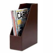 DACASSO® Econo-Line Dark Brown Leather Magazine Rack