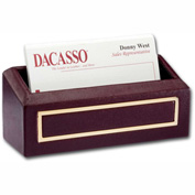 DACASSO® Burgundy 24Kt Gold Tooled Business Card Holder