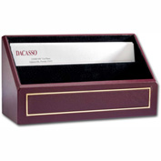DACASSO® Burgundy Leather 24Kt Gold Tooled Letter Holder