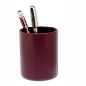DACASSO® Two-Tone Leather Round Pencil Cup
