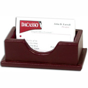 DACASSO® Legal Style Burgundy Leather Business Card Holder