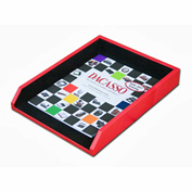 DACASSO® Red Contemporary Leather Letter Tray