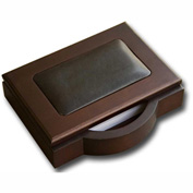 DACASSO® Walnut & Leather Memo Holder
