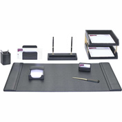 DACASSO® Black Leather 10-Piece Desk Set