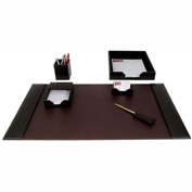 DACASSO® Brown Leather 6-Piece Econo-Line Desk Set