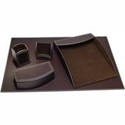 DACASSO® Dacasso Colors Faux Leather 5pc Office Organizing Desk Set - Espresso Brown
