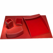 DACASSO® Dacasso Colors Faux Leather 5pc Office Organizing Desk Set - Rossa Red