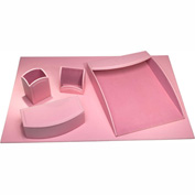 DACASSO® Dacasso Colors Faux Leather 5pc Office Organizing Desk Set - Cameo Pink
