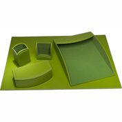 DACASSO® Dacasso Colors Faux Leather 5pc Office Organizing Desk Set - Lime Green