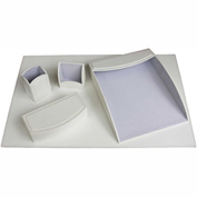 DACASSO® Dacasso Colors Faux Leather 5pc Office Organizing Desk Set - Daisy White