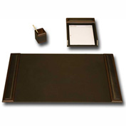 DACASSO® Walnut & Leather 3-Piece Desk Set